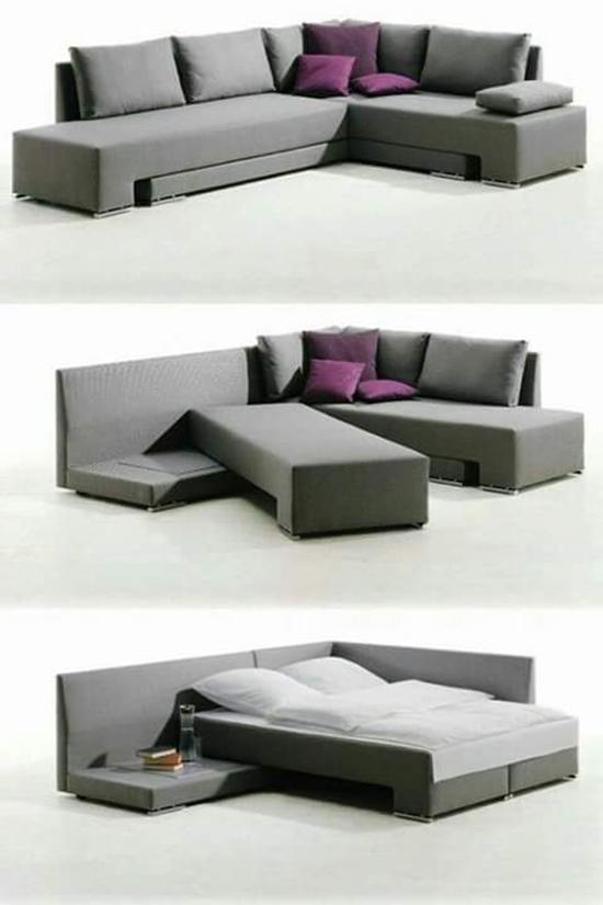 Modern L Shape Sofa Bed 3af006 Ro2ya Home, Sofa Bed L Shaped Couch